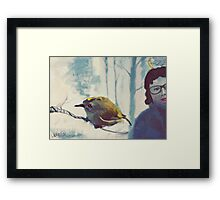 Bird on a branch Framed Print