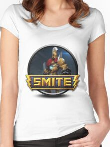Smite Ares Logo Women's Fitted Scoop T-Shirt
