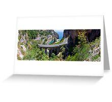 Amalfi Coast Road Panorama Greeting Card