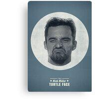 Turtle Face Canvas Print