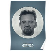 Turtle Face Poster