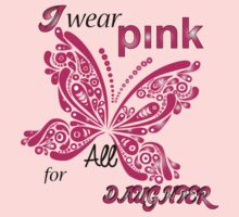 I Wear Pink For My Daughter by mike desolunk