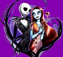 skeleton love and romance by BURPdesigns