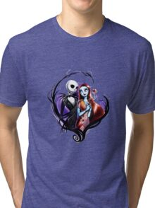 skeleton love and romance Tri-blend T-Shirt