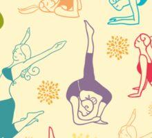 Fun workout pattern Sticker