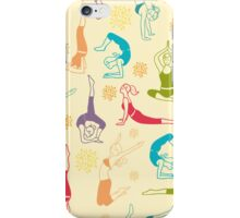 Fun workout pattern iPhone Case/Skin