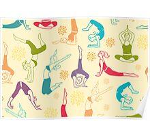 Fun workout pattern Poster