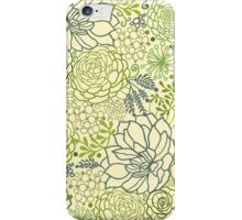 Succulent garden line art pattern iPhone Case/Skin