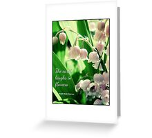 Memory of My Lily of the Valleys Greeting Card