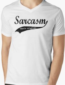 wow sarcasm.... thats original Mens V-Neck T-Shirt