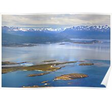 The Beagle Channel Aerial Poster