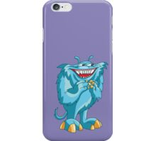 Cute Little Blue Smiling Monster!!! iPhone Case/Skin