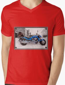 Ice Cool and Blue Mens V-Neck T-Shirt
