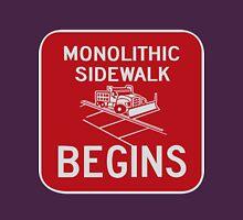 Monolithic Sidewalk Begins Womens Fitted T-Shirt