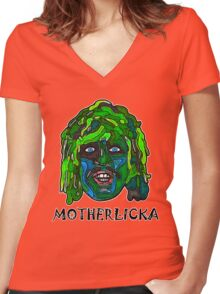 Old Gregg - Motherlicka Women's Fitted V-Neck T-Shirt