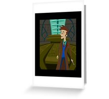 Inside The Tardis - David Tennant Greeting Card