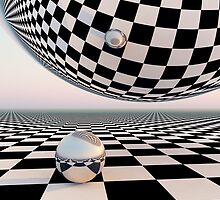 Checkered Surreal Horizon by truelight