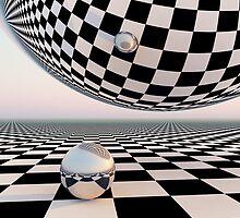 Checkered Surreal Horizon by truelight