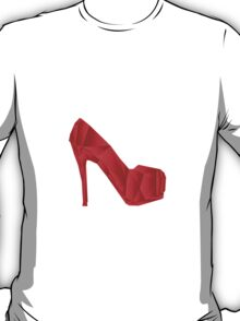 Red abstract Heel shoe T-Shirt
