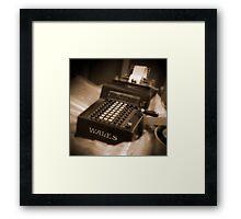 Adding Machine Framed Print