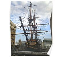 GOLDEN HIND IN DRY DOCK Poster