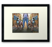 Snub-Nosed Terriers Framed Print