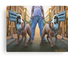 Snub-Nosed Terriers Canvas Print