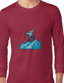 Mountain Climber Summit Retro Long Sleeve T-Shirt