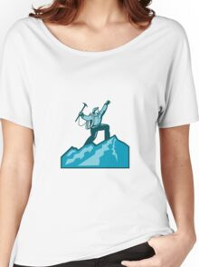 Mountain Climber Summit Retro Women's Relaxed Fit T-Shirt