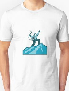 Mountain Climber Summit Retro Unisex T-Shirt