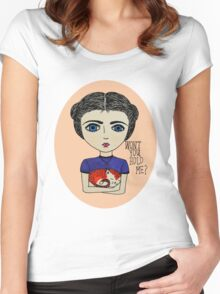 Won't you hold me? Women's Fitted Scoop T-Shirt