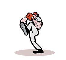 Baseball Pitcher Cartoon by patrimonio