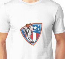 American Baseball Pitcher Shield Unisex T-Shirt