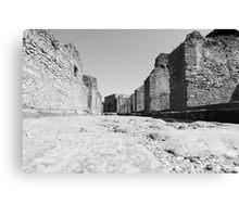 Deserted Pompeii Canvas Print