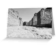 Deserted Pompeii Greeting Card