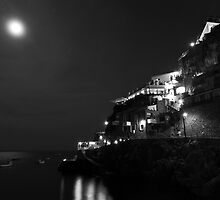 Full Moon On Praiano by Adrian Alford Photography