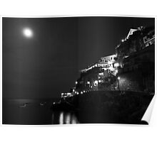 Full Moon On Praiano Poster