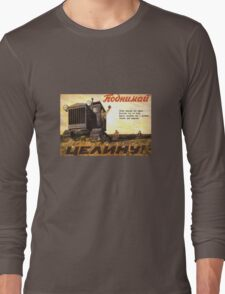 Vintage USSR Tractor Land Long Sleeve T-Shirt