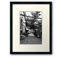 Positano Alley Framed Print