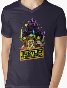 Turtles Strike Back Mens V-Neck T-Shirt