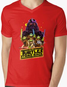 Turtles Strike Back Mens V-Neck T-Shirt