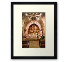 Church Interior, Baiona Framed Print