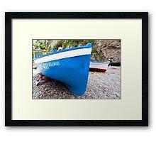Luigi's Blue Framed Print
