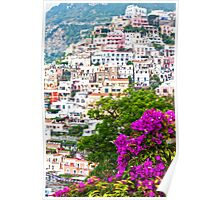 Positano Purple Poster