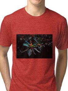 """Orange, Green and Dark"" Tri-blend T-Shirt"
