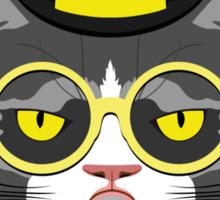 Fashion Animals - Charlie Cat | artwork by Olga Angelloz Sticker