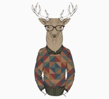 Fashion Animals - Sir Deer | artwork by Olga Angelloz by ccorkin