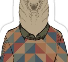 Fashion Animals - Sir Deer | artwork by Olga Angelloz Sticker