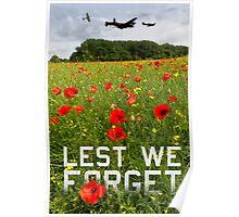 Remember them poster version 'Lest we forget' Poster