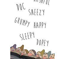 Snow White & the Seven Dwarfs by ChloeJade